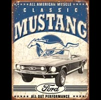 PLAQUE AMERICAINE US MUSTANG USA