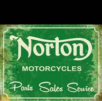 plaque vintage moto NORTON MOTOCYCLES