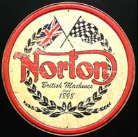 PLAQUE NORTON BRITISH MACHINES