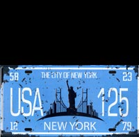 plaque immat USA NY licence plate