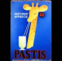 PASTIS 51 PIN UP APERITIF ANISE plaque nescafe vintage tasse
