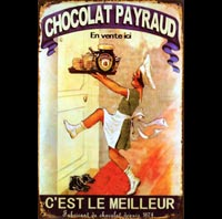PLAQUE VINTAGE CHOCOLAT PAYRAUD