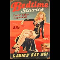 PIN UP BED TIME STORIES PLAQUE METAL VINTAGE DECO