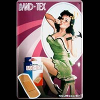 PIN UP HAMMER Plaque publicitaire relief métal 20x30 cm