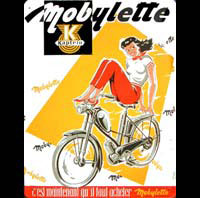 PIN UP MOBYLETTE PLAQUE EMAILLEE