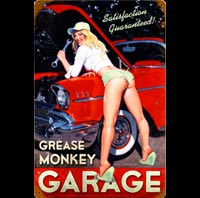 PLAQUE AMERICAINE US SHORTY VERT GARAGE