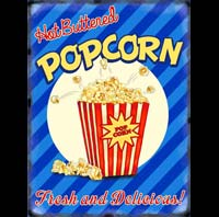 POP CORN US USA PLAQUE DECO AMERICAINE