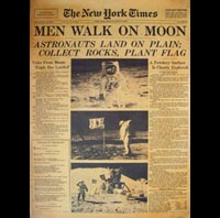 POSTER HOMME SUR LUNE POSTER NEW YORK TIMES MOON