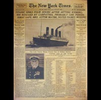 POSTER TITANIC HOMME SUR LUNE POSTER NEW YORK TIMES MOON