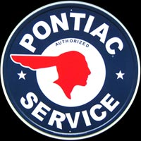 PONTIAC SERVICE AUTHORIZED DEALER PLAQUE METAL DECO GARAGE PLAQUE VOITURE