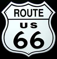 Plaque publicitaire ROUTE 66 ROAD SIGN plaque pub route 66 plaque route 66 route 66 USA