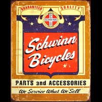 SCHWINN BICYCLES LOGO PLAQUE METAL USA