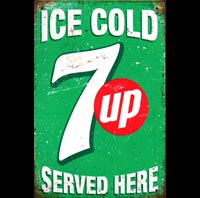 7 UP seven UP plaque deco vintage