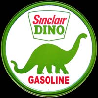 SINCLAIR DINO GASOLINE LOGO PLAQUE DECO GARAGE