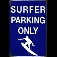 SURFER PARKING ONLY  plaque deco vintage KOMBI SURFER plaque vintage pin up I LOVE R'N'ROLL pin up ACDC van halen slash