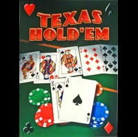 TEXAS HOLD'EM - Plaque métal 31,5 x 44,5 cm