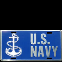 US NAVY PLAQUE US LICENSE PLATE