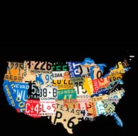 USA LICENSE PLATES IMMATRICULATION