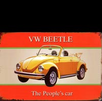 plaque deco VW BEETLE