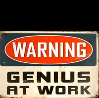 WARNING GENIUS AT WORK ADOS CHAMBRE