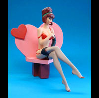 FIGURINE RESINE PIN UP COEUR