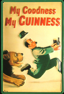 MY GOODNESS MY GUINNESS - Plaque publicitaire relief métal 20x30 cm - Plaque métal publicitaire GUINNESS