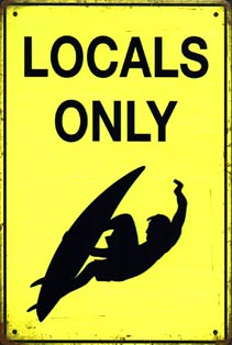 LOCALS ONLY SURF PLAQUE VINTAGE SURFER BOY plaque deco vintage KOMBI SURFER plaque vintage pin up I LOVE R'N'ROLL pin up ACDC van halen slash