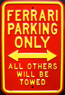 ferrari parking only plaque m tal 30x45 cm. Black Bedroom Furniture Sets. Home Design Ideas
