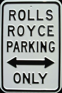 ROLLS ROYCE PARKING ONLY - Plaque métal 30x45 cm