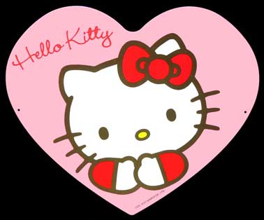 HELLO KITTY Plaque pub métal 41x35 cm HELLO KITTY IDKDO ENFANT