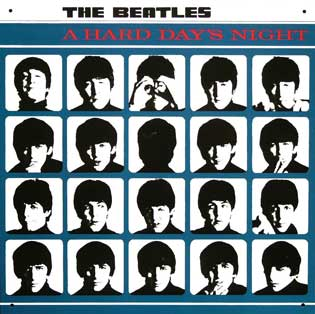 THE BEATLES A HARD DAY'S NIGHT Plaque pub métal 30x30 cm A HARD DAY'S NIGHT THE BEATLES Plaque publicitaire A HARD DAY'S NIGHT IDKDO