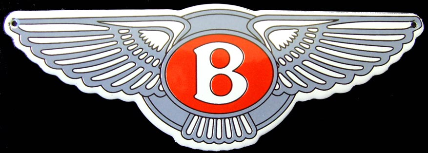 Plaque émaillée BENTLEY 8 EIGHT MULSANNE