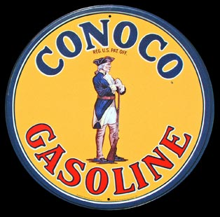 CONOCO ROUND PLAQUE DECO GARAGE