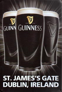 BIERE DUBLIN IRELAND  GUINNESS TOUCAN TIME BAR PUB  Plaque publicitaire relief métal 20x30 cm