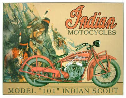 INDIAN MOTORCYCLES MODEL 101 INDIAN SCOUT MOTO FAN DECO
