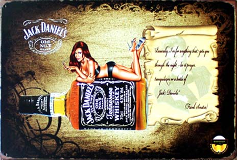 PIN UP JACK DANIEL'S BILLARD