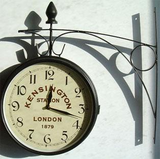 Horloge double face - Horloge de gare double face ...