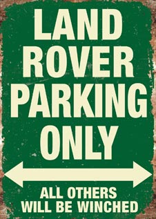 LAND ROVER RANGE ROVER PARKING ONLY PLAQUE METAL VINTAGE