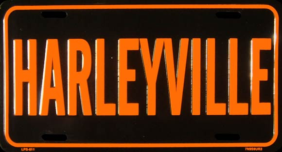 HARLEYVILLE MOTO PLAQUE LICENSE PLATE PLAQUE IMMATRICULATION