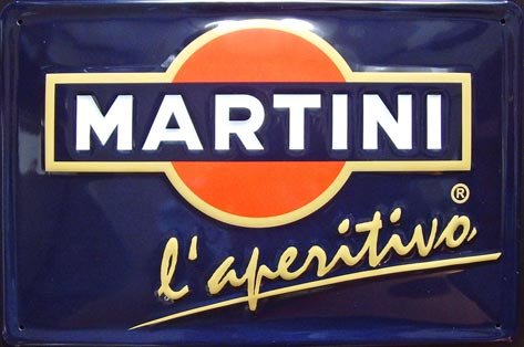 PLAQUE MARTINI APERITIF