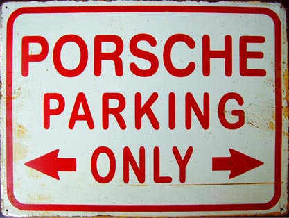 PORSCHE PARKING ONLY - Plaque métal vintage 40x30 cm