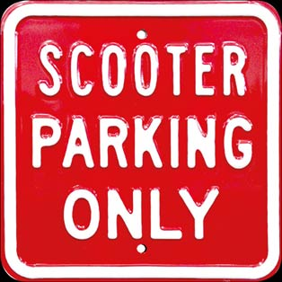 SCOOTER VESPA PARKING ONLY