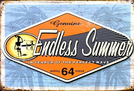 endless summer 64 plaque surfer californie surf life is good