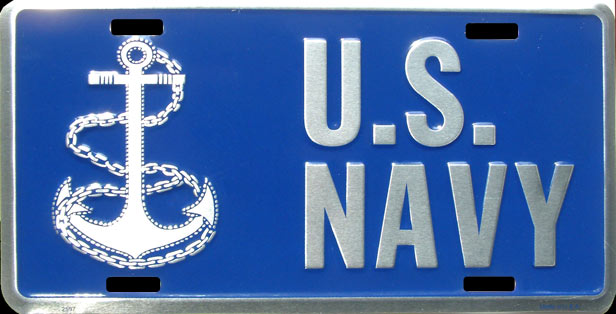 US NAVY MOTO PLAQUE LICENSE PLATE PLAQUE IMMATRICULATION
