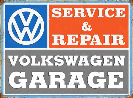 VW GARAGE PLAQUE EMAILLEE METAL